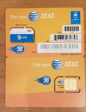 *New Unactivated* At&T Standard Size Sim Card Gsm 3G