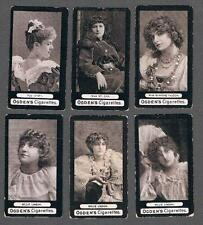 1900 Ogdens Dominoes Actresses Tobacco Cards Lot of 6