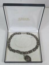 Museales Collier mit Steinbesatz und Hochaufwendigen Muster versilbert um 1880