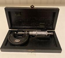 Vintage Outside Micrometer Helios 0-1 Measuring Metal Working Inspection Tools