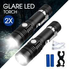 2X 60000lm LED Flashlight Torch For Bike Mount USB Rechargeable CREE T6 XM-L AU