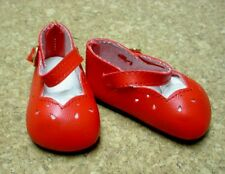 "Doll Shoes, 46mm RED Girl Dress for Ann Estelle, 10"" Tonner Patsy"