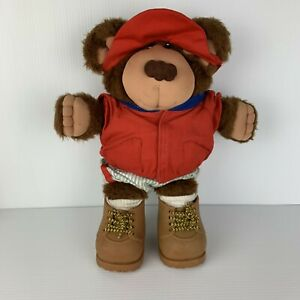 Vintage Cabbage Patch 1980's Furskins Bear Hank Spitball w/ Original Outfit