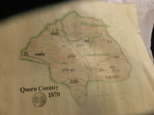 Leicestershire Map QUORN COUNTRY 1870  inc Nottingham  Hunting