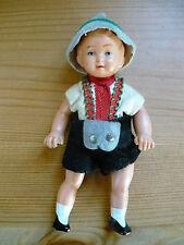 Celluloid Puppe - kleine Puppe ca. 10,5cm - alt - mit Orginal Kleidung / Tracht