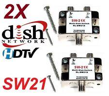 2 X SW-21 SWITCH - DISH NETWORK MULTI-SWITCH DISHNET SW21 LNB 119 110 129 BELL