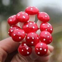 Red Mushroom Figure decorative mini fairy garden cartoon Building statue jardin