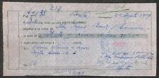 BILL OF EXCHANGE BOGOTA COLOMBIA MOHICAN RUBBER REVENUE STAMP 1929