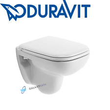 DURAVIT D-CODE COMPACT SET WHITE 48CM WALL HUNG WC TOILET PAN WITH SOFT SEAT