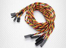 New 5 pack JR Hitec Server Extension Lead Ext 22awg 80cm Twisted US
