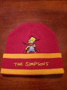 1998  The Simpsons Men Beanie Cap RED & ORANGE Bart Simpson VAMPIRE NWOT