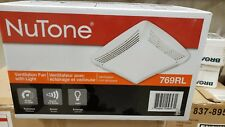 NuTone 769RL Ventilation Fan with Light Grille & Lens 70CFM (White)