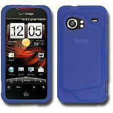 Silicone Soft Skin Jelly Case Cover Fit  For HTC DROID Incredible PB31200 - Blue