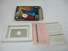 STAR FOX Super Nintendo SNES Authentic Box And Inserts NO GAME CART!