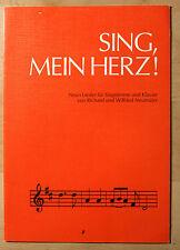 Notenheft SING, MEIN HERZ, neun Lieder für Singstimme und Klavier
