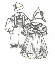 """Doll clothes Sewing Pattern fits 13-14"""" 15 16"""" 17 18"""" Hansel Gretel boy girl Up"""