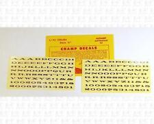 Champ HO Decals Black 1/8 Inch Chelsea Letter Set L-143
