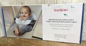 Baby Bjorn Balance Soft Ergonomic Baby Bouncer Natural Rocking Motion Gray