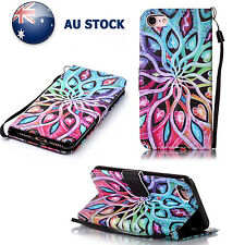 For iPhone 6s 6 7Plus Magnetic Mandala Pattern Flip PU Leather Wallet Case Cover