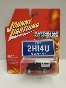 Johnny Lightning Working Class 1980 Toyota Land Cruiser Black Connecticut