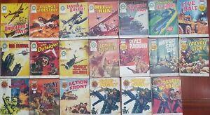 AIR ACE , VALIANT , LION picture library. Vintage Comic lot 12 V.G.C. Fleetway