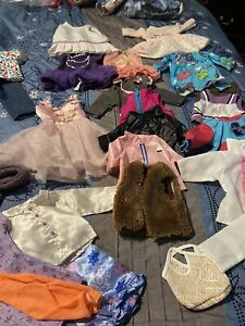 """Lot of 18"""" Doll Clothing 24 Pieces for OG, AG Dolls"""