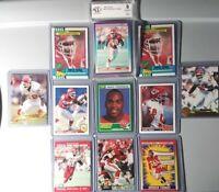 Derrick Thomas 3 Rookie CARDS + 1990 SCORE GRADE 9 (BCCG) + 7 LOT (11) CHIEFS🔥