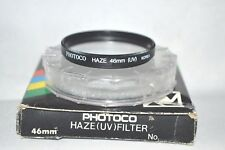 Photoco 46 mm NEW Haze UV Screw-In Filter with Case and Box Made Korea (L-117)