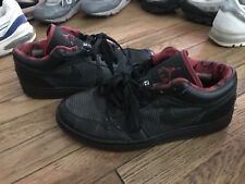 Vintage Nike Air Jordan 1 Retro Low Black Metallic Silver Red Sz 8 309192 001