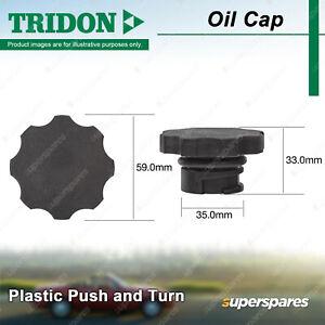 Tridon Oil Cap Plastic Push and Turn 35.0mm for SAAB 9-3 9-5 2.0L Turbo