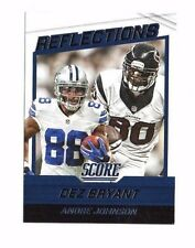 Dez Bryant, Andre Johnson 2016 Score, Reflections, Football Card !!