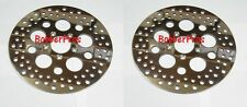 "Harley Brake Disc Rotors 11.5"" Polished Vented Stainless Steel ( 2 Front )"