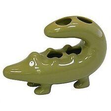 Animal Cracker Alligator Ceramic Toothbrush Holder