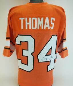 Thurman Thomas Signed Oklahoma State Cowboys Custom Jersey (JSA Witness COA)