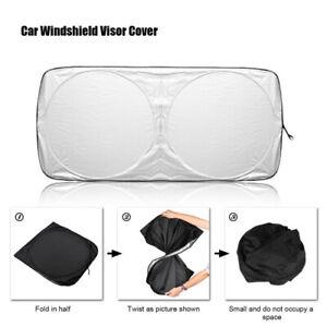Car Folding Jumbo Front Window Sun Shade Windshield Block Cover Sunshade