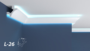 XPS Polystyrene LED Indirect Lighting Up lighter Lightweight Coving Cornice L-26