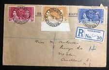 1937 Livingstone N Rhodesia King George VI Coronation FDC First Day Cover KG6