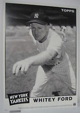 WHITEY FORD 2014 TOPPS WALL ART 10 X 14 BLACK & WHITE ONLINE EXCLUSIVE #/49 MINT