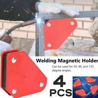 4x Welding Magnet Magnetic Square Welder Holder Arrow Clamp 45° 90° 135° 9L B2D0