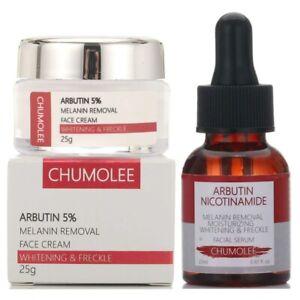 Alpha Arbutin 5% Cream + Serum Strong Removal Melasma Whitening Freckle Spots