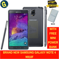 Brand New Samsung Galaxy Note 4 Black SM-N910F 32GB SimFree Unlocked Smartphone