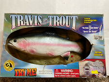 Travis The Singing Trout Singing Fish Tested 1999 Built-in Stand Rare Gemmy