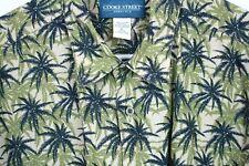 COOKE STREET HONOLULU Shirt Palm Tree Design Multi Color Cotton Fabric XL