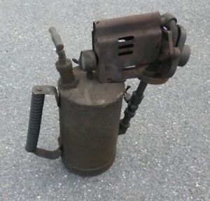 Large Vintage MONITOR Industrial Brass Paraffin Blow Torch Lamp Tool