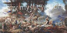 """THE INVITATION CANVAS Hand Signed by Tom duBois 10"""" x 20"""" Image Size Noah's Ark"""