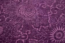 Japanese Vintage Silk Fabric Purple Floral Design 1590