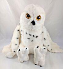 "White Snow Owl Plush K&M International 11"" Stuffed Animal"