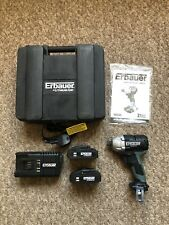 Erbauer 18v Cordless Brushless Impact Driver,  2 X batteries, charger and case
