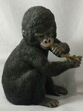 """Baby Gorilla Figure Eating Branch Country Artists Model 02554 15cms 6"""" High Good"""