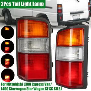 LH & RH Rear Tail Lights Lamp For Mitsubishi L300 Express Van SF SG SH SJ
